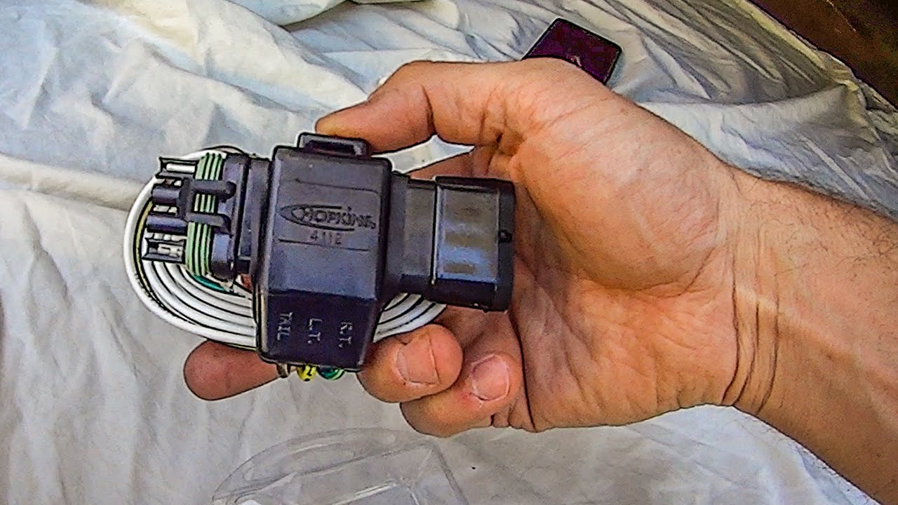 Uhaul Flat 4 Trailer Wiring Harness Install - Youtube - 7 Blade Trailer Plug Wiring Diagram