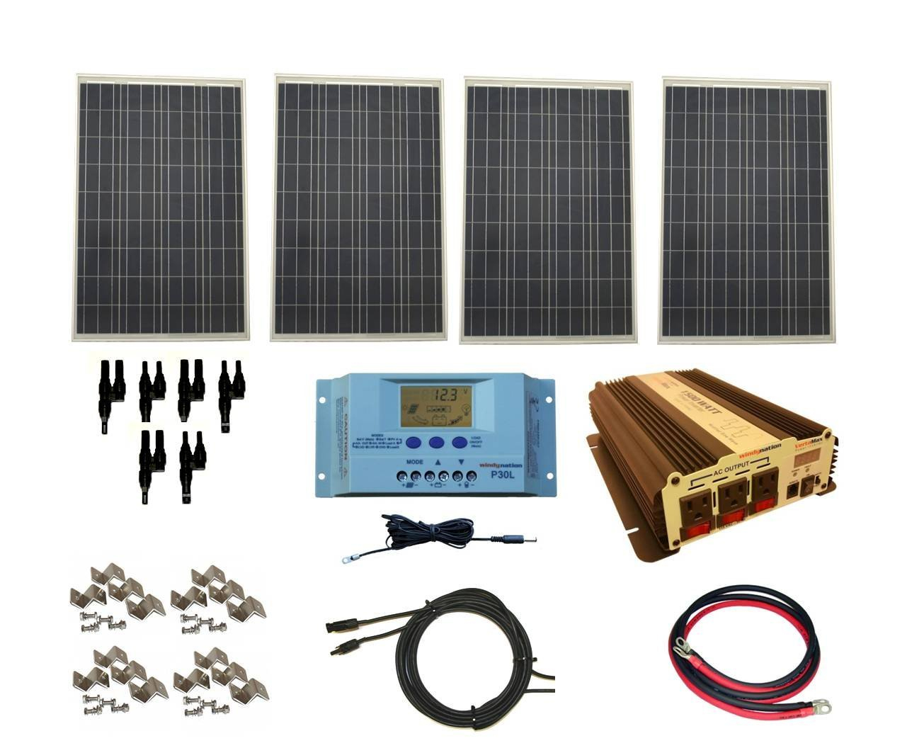 Ultimate Guide To Best Rv Solar Panels, Kits & Systems - Rv Power Converter Wiring Diagram