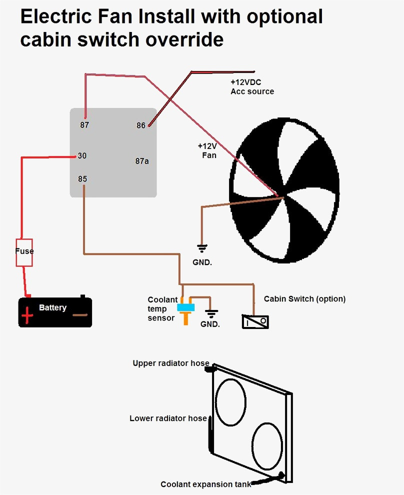 Unique Wiring Diagram For Electric Fan Standard Throughout With - Electric Fans Wiring Diagram