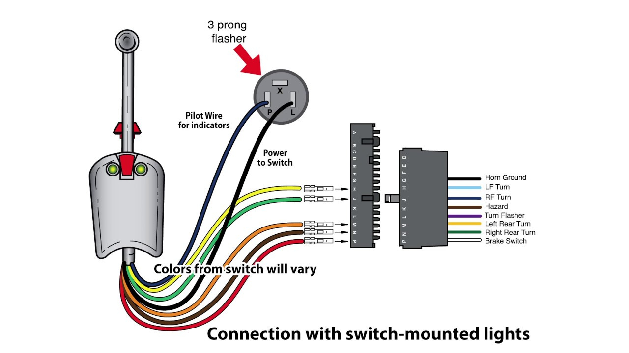 Universal Bolt On Turn Signal Switch Wiring - Youtube - 3 Pin Flasher Relay Wiring Diagram