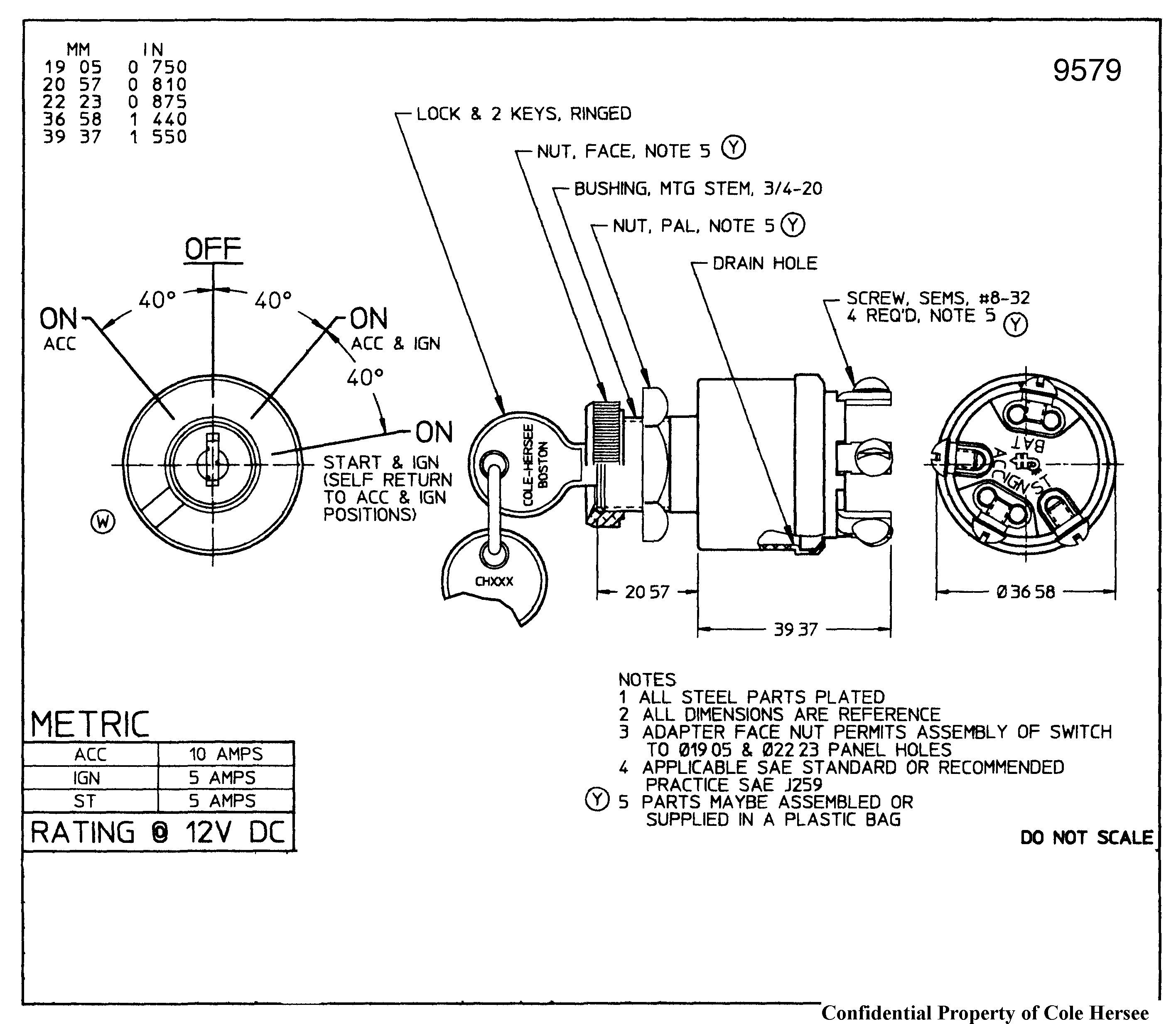 Universal Key Switch Wiring Diagram | Wiring Diagram - 3 Position Ignition Switch Wiring Diagram