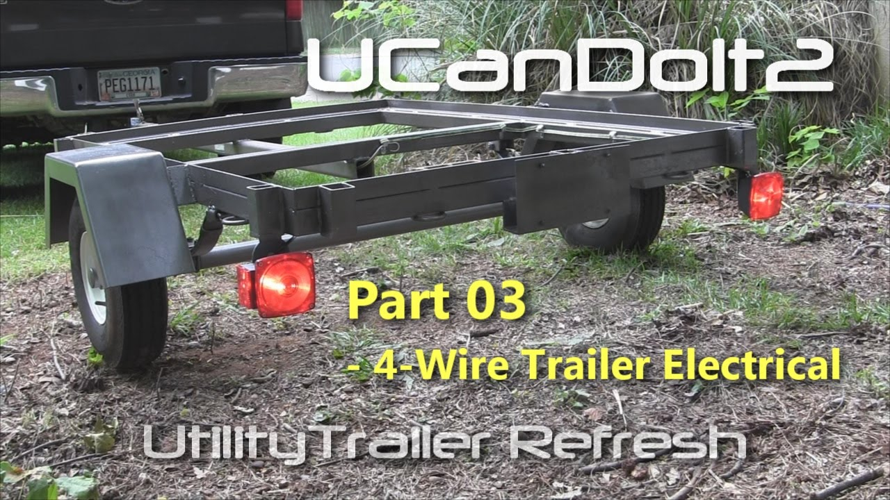 Utility Trailer 03 - 4 Pin Trailer Wiring And Diagram - Youtube - 4 Flat Trailer Wiring Diagram