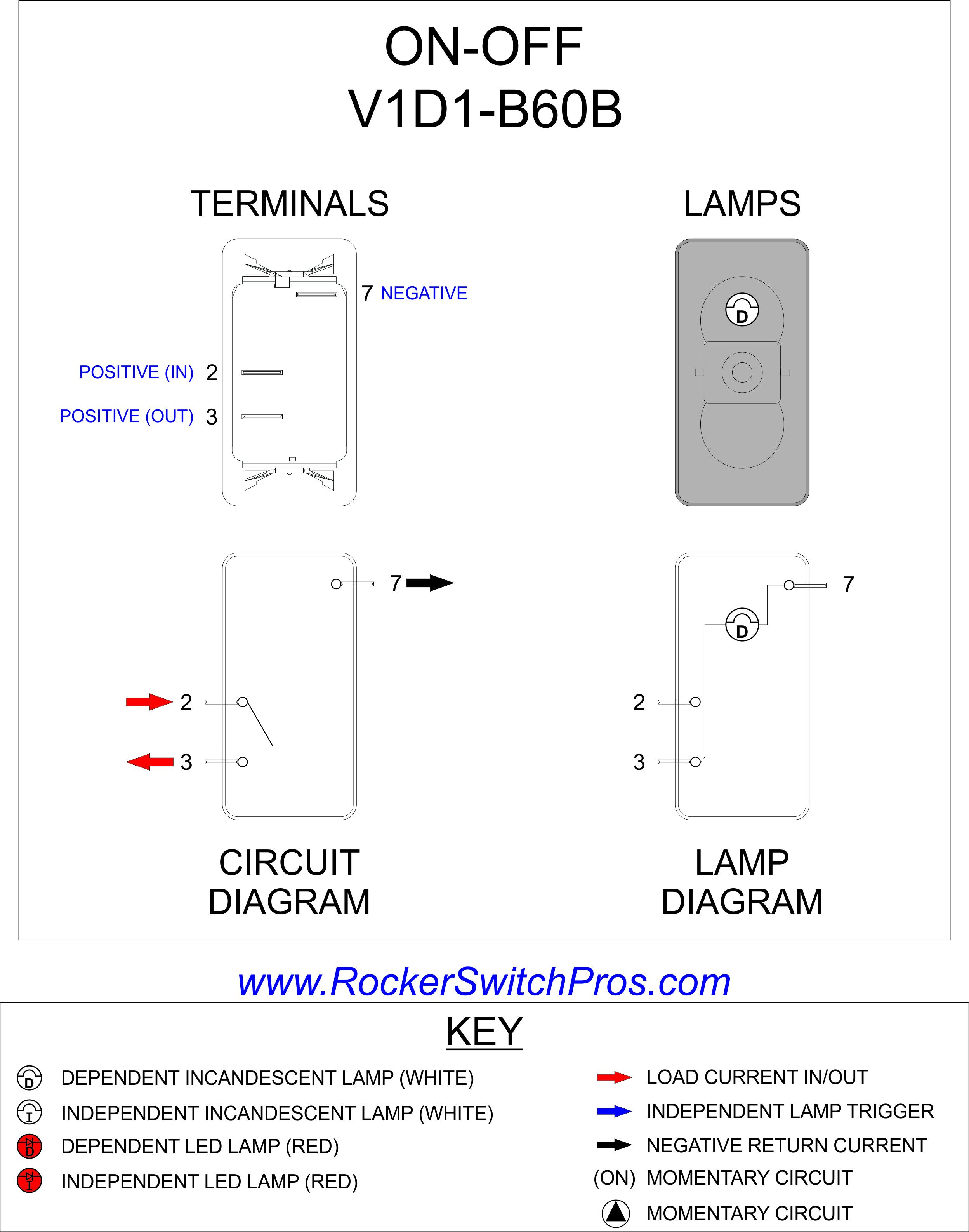 V1D1-B60B - Carling Switches Wiring Diagram