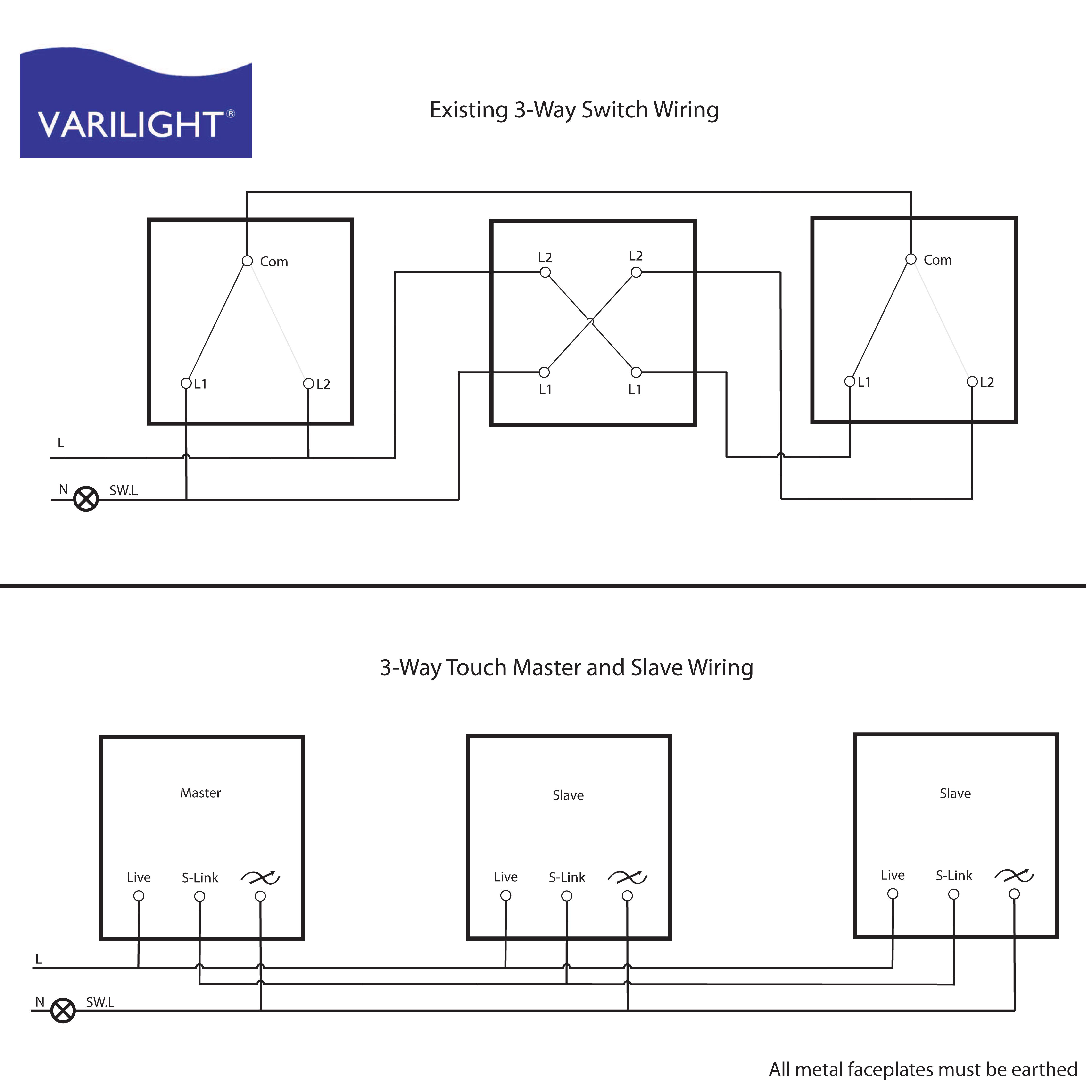 Varilight Wiring Diagrams - 3 Way Switching Wiring Diagram