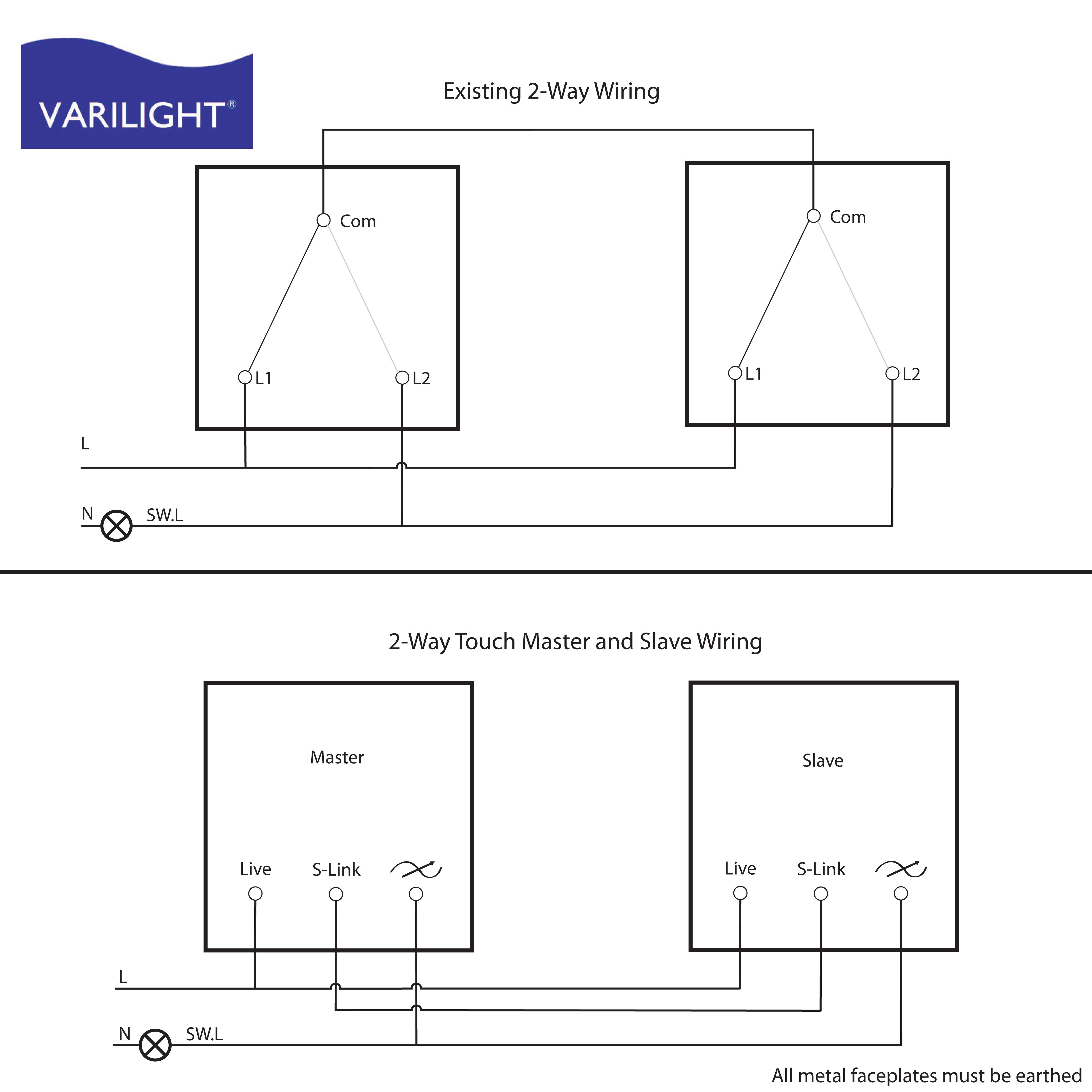 Varilight Wiring Diagrams - Dimming Switch Wiring Diagram