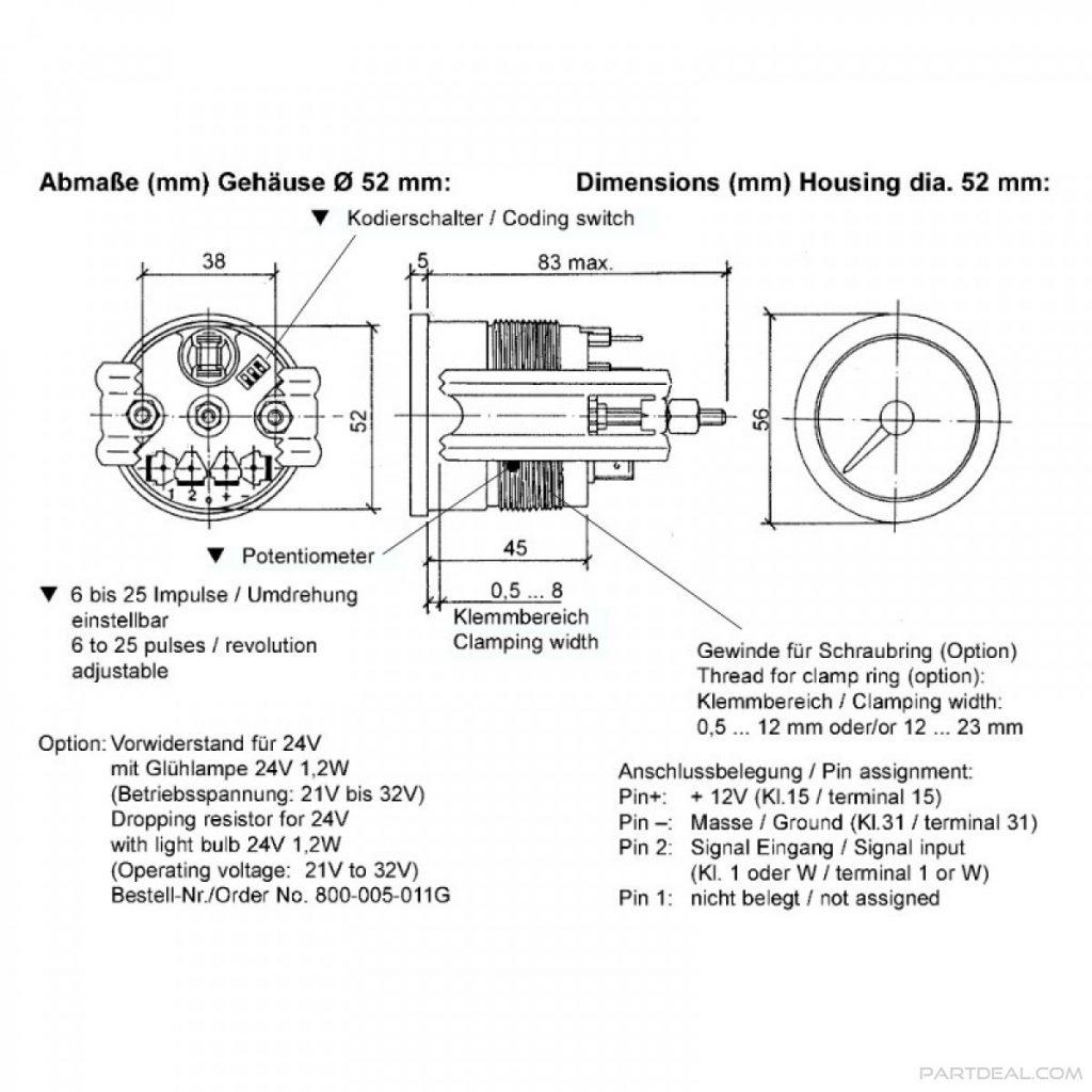Vdo Marine Tachometer Wiring Diagram