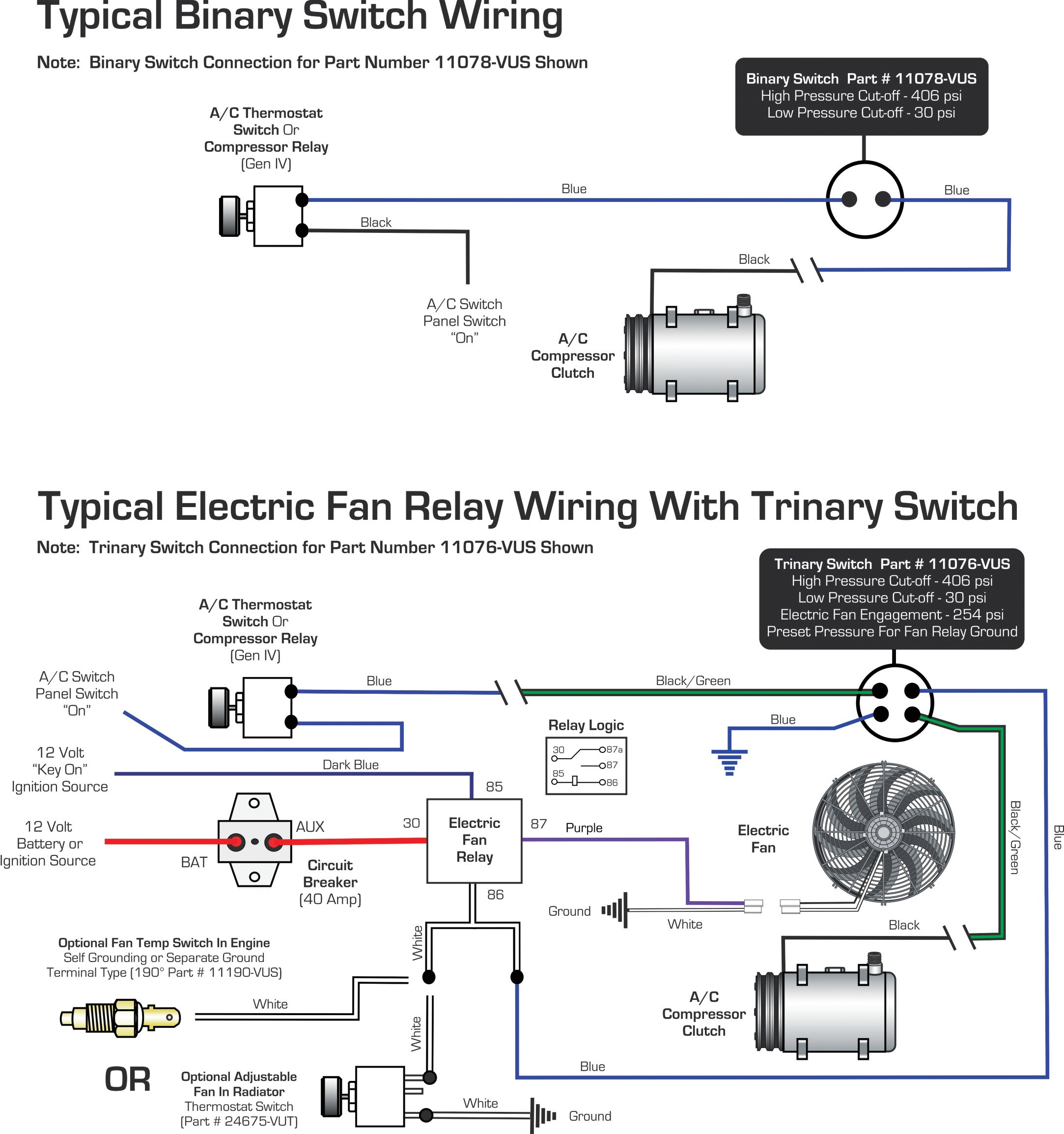 Vintage Air » Blog Archive Wiring Diagrams Binary Switch / Trinary - Vintage Air Wiring Diagram