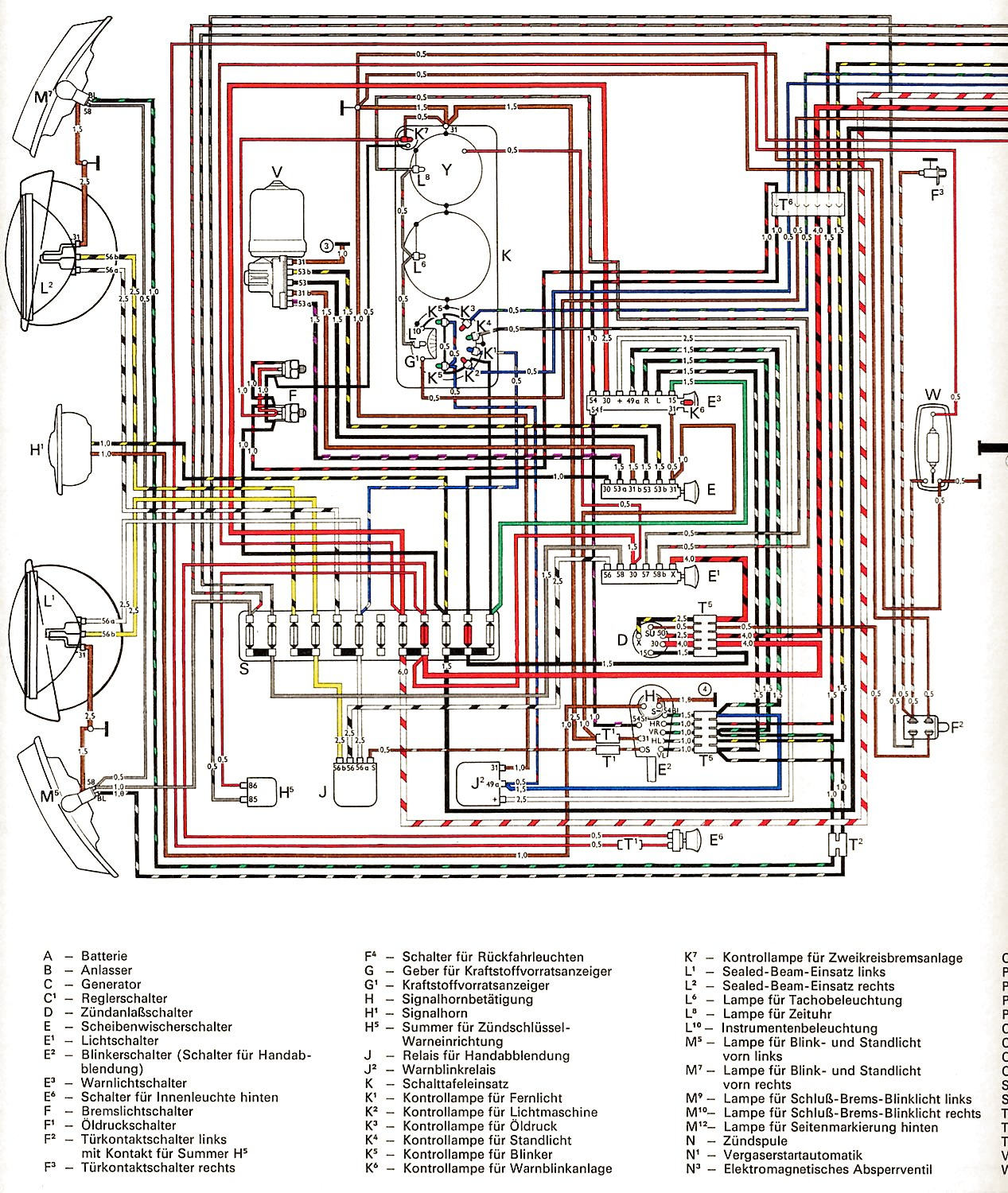 Vintagebus - Vw Bus (And Other) Wiring Diagrams - Vw Wiring Diagram