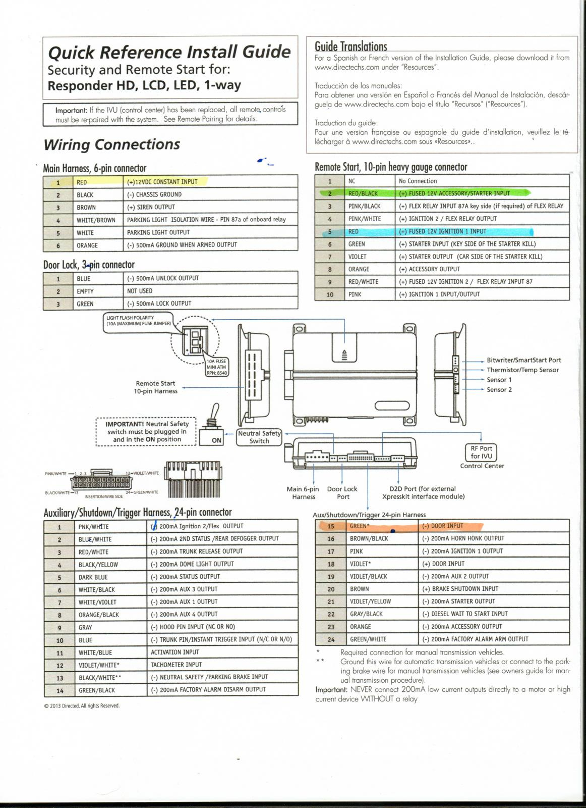 Viper Alarm Remote Start Wiring Diagram | Wiring Diagram - Viper 5706V Wiring Diagram