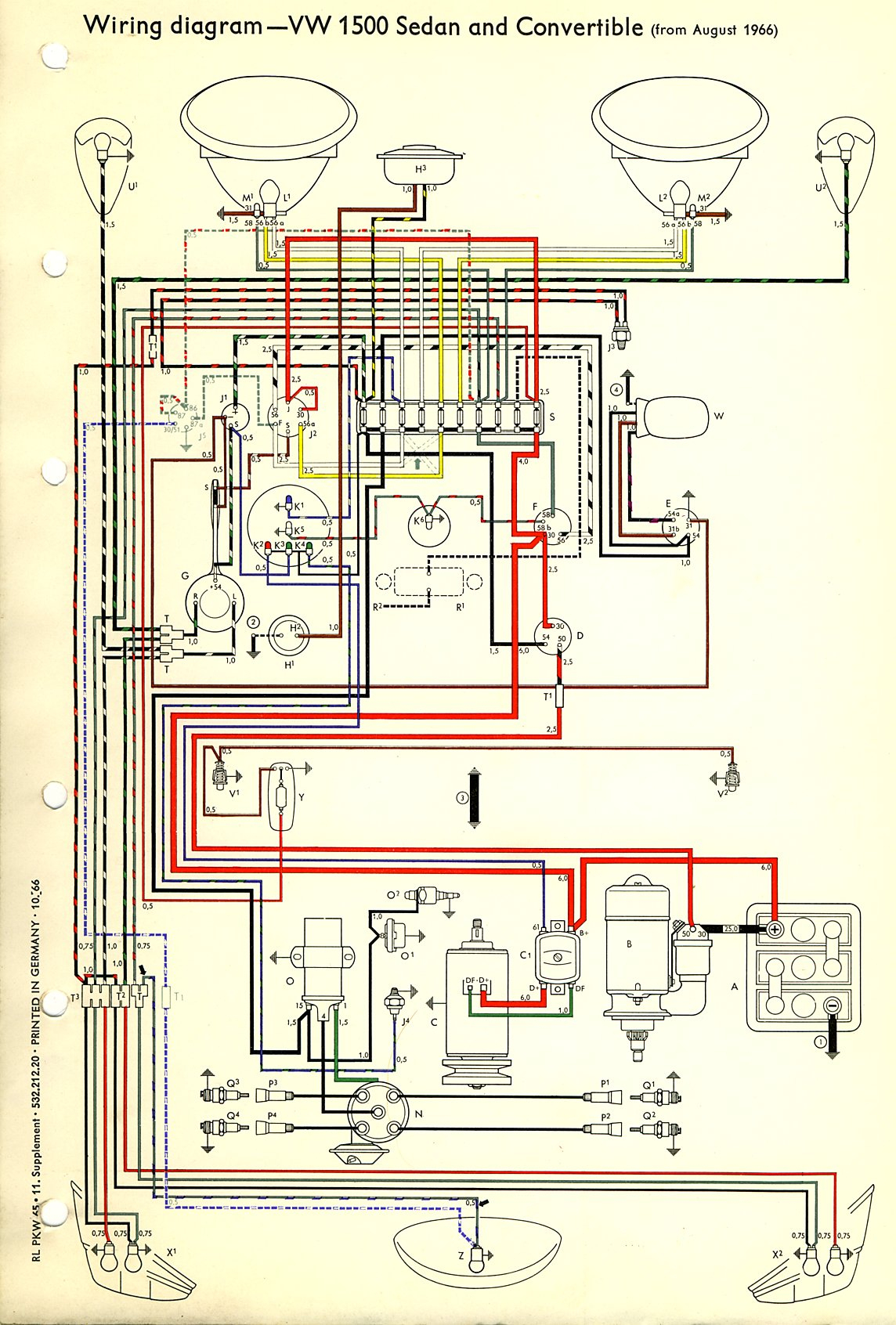 Vw Beetle Diagram - Wiring Diagrams Hubs - 1973 Vw Beetle Wiring Diagram