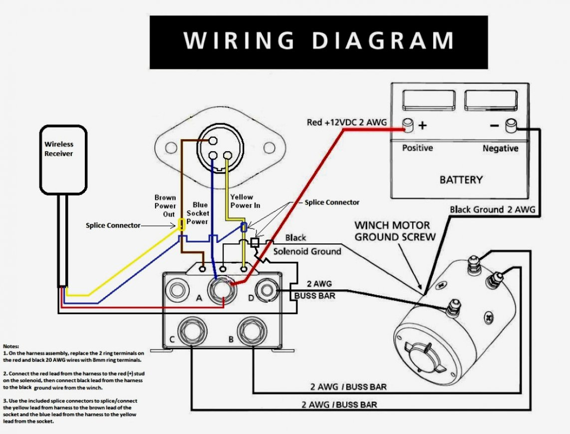 Warn Winch Motor Wiring Diagram | Manual E-Books - Warn Winch Wiring Diagram
