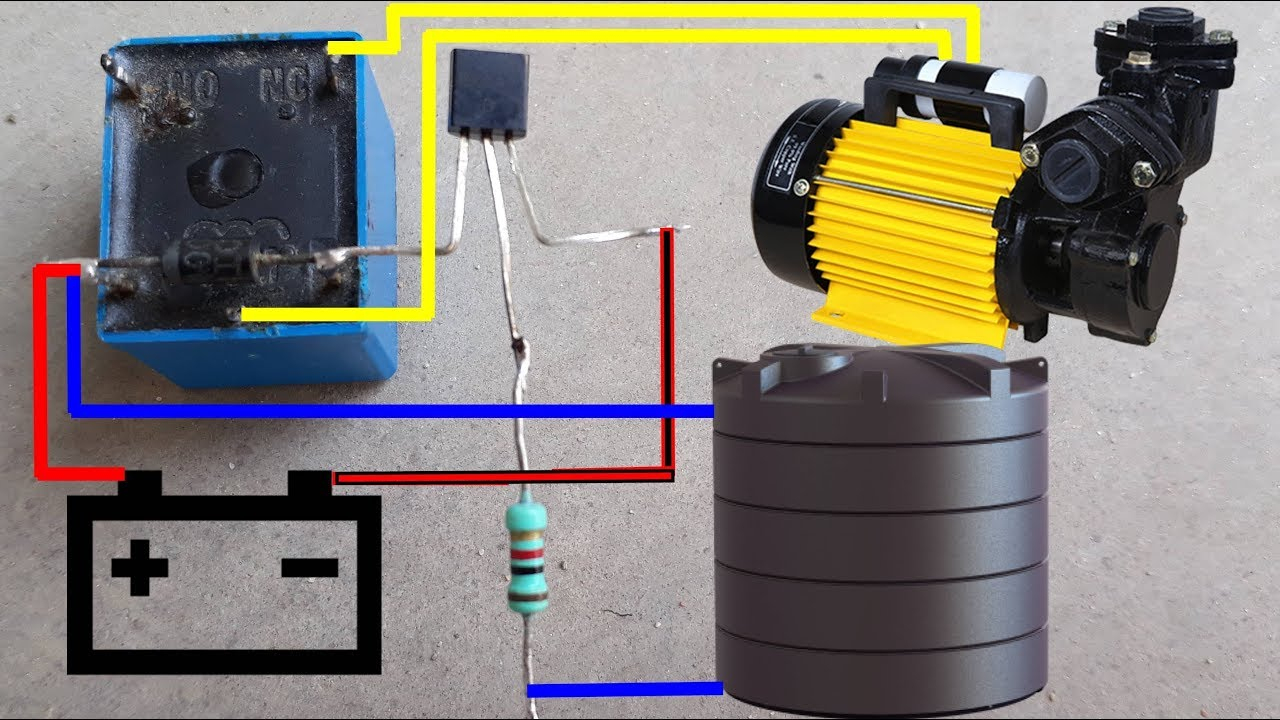 Water Pump Auto Cut Switch Circuit Diagram | Water Pump Auto On-Off - Well Pump Control Box Wiring Diagram