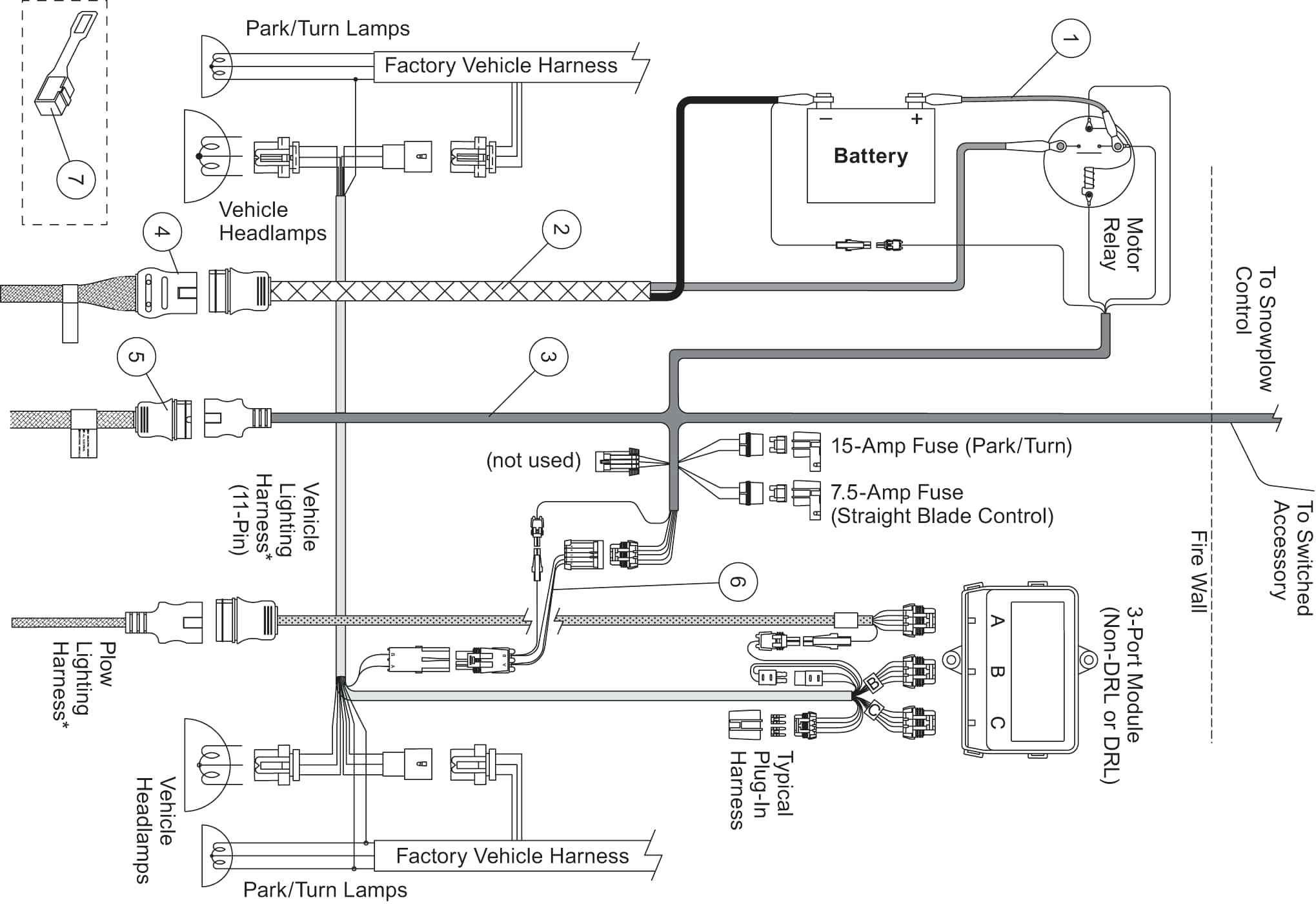 Western Plow Light Wiring Diagram Meyers Snow Harness And Unimount - Boss Snow Plow Wiring Diagram