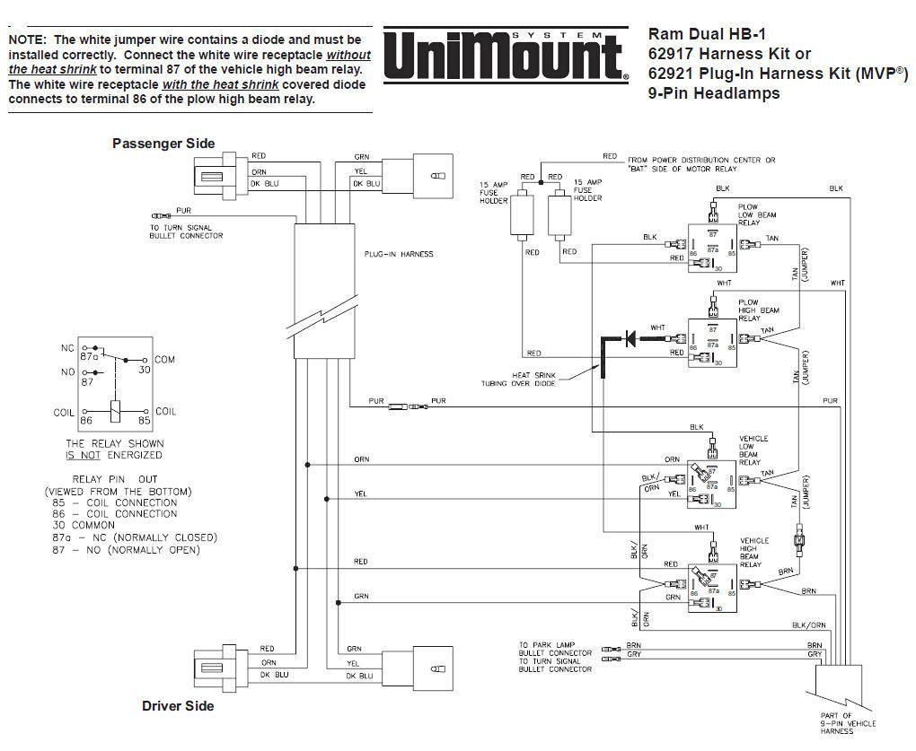 Western Unimount Plow Wiring Harness - Data Wiring Diagram Site - Western Unimount Plow Wiring Diagram