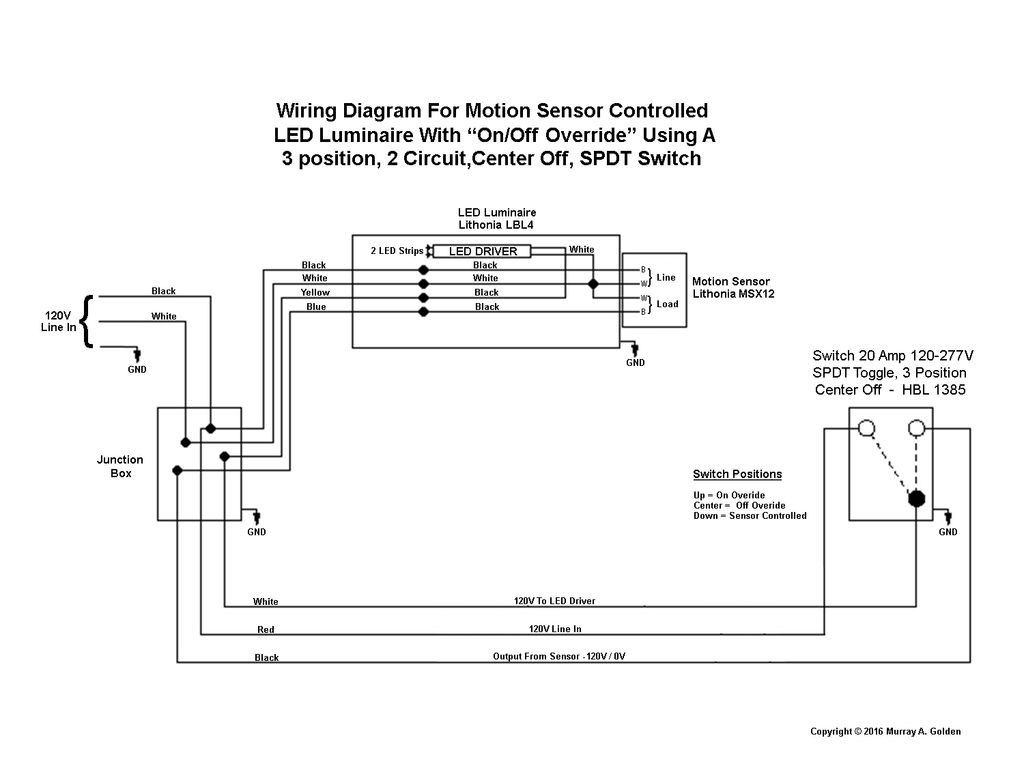 What Kind Of Switch To Operate And Bypass Motion Sensor Security Light? - Motion Sensor Light Switch Wiring Diagram