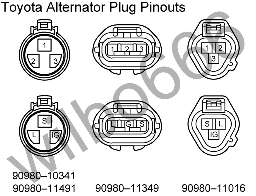 Wilbo666 / Toyota Alternators - Toyota Alternator Wiring Diagram