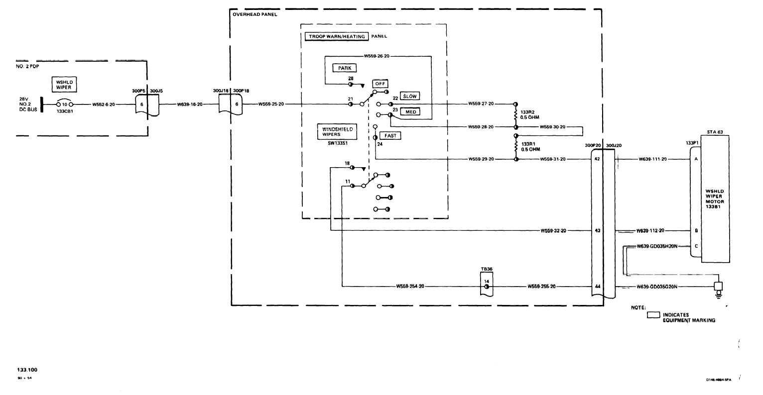 Windshield Wipers Wiring Diagram - Windshield Wiper Motor Wiring Diagram