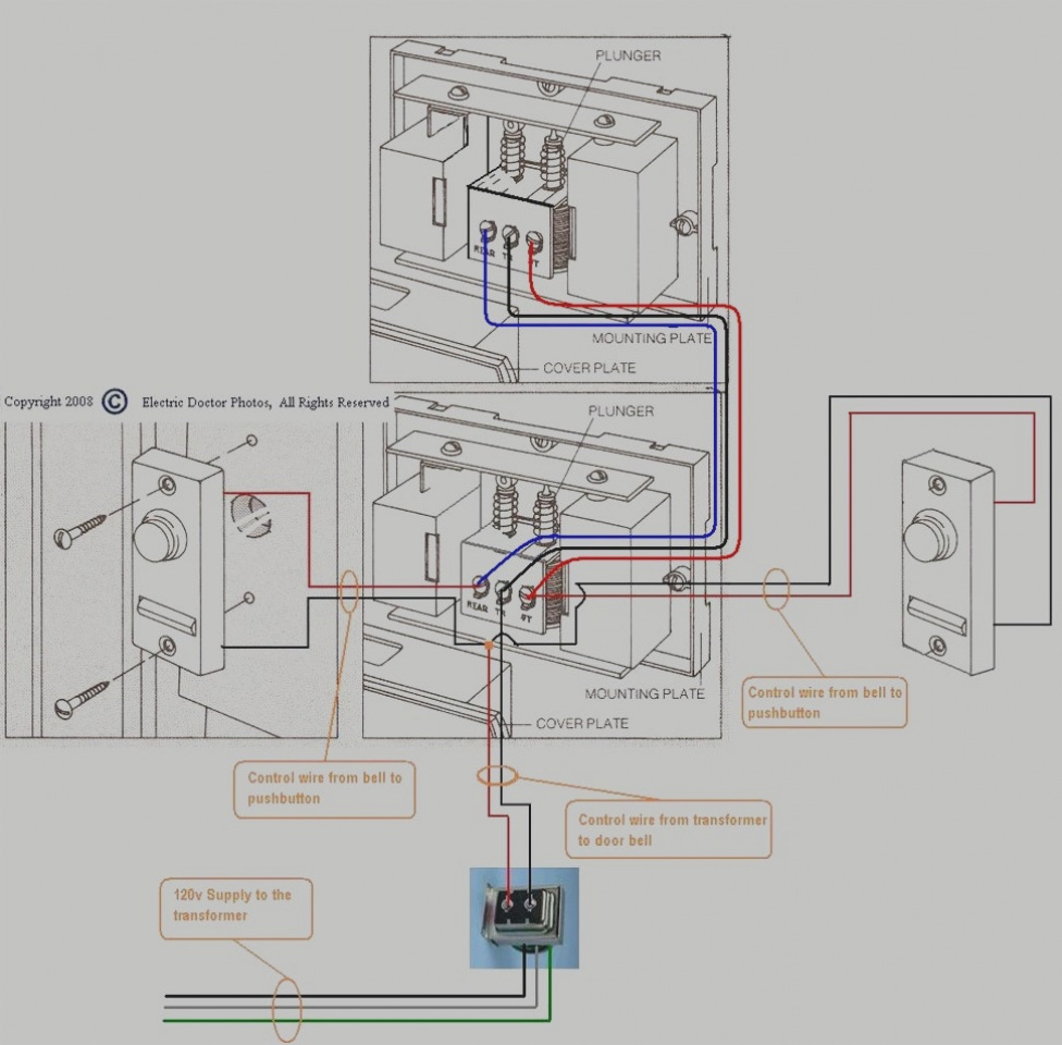 Wired Door Bell How To Install A Wired Doorbell Basement Ideas Add A - Doorbell Transformer Wiring Diagram