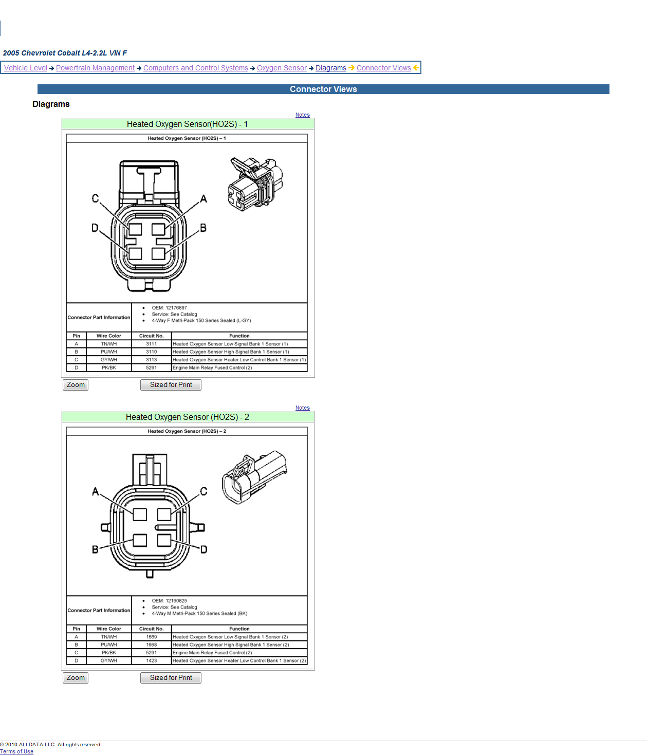 Wiring 4 Wire Schematic | Wiring Library - 4 Wire O2 Sensor Wiring Diagram