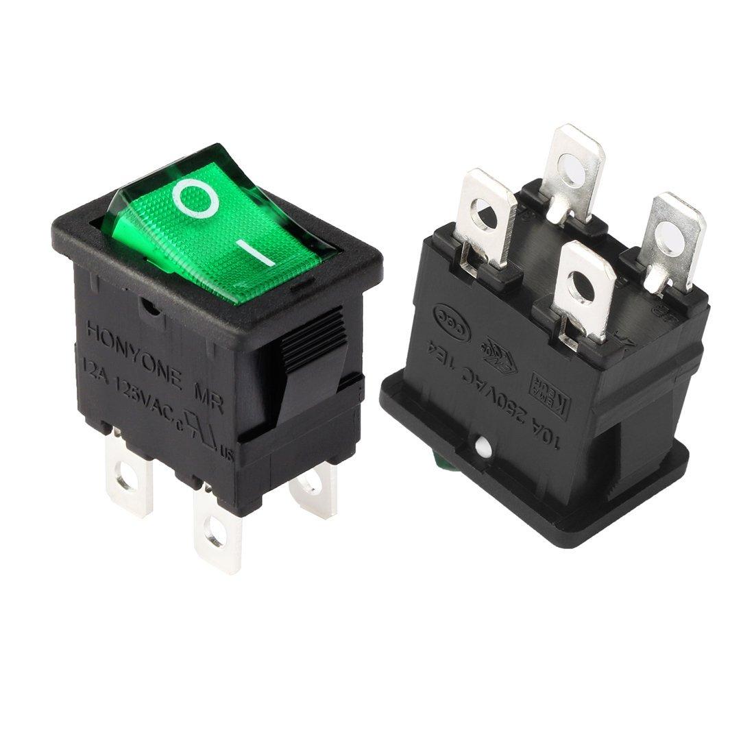 Wiring A 4-Pin Dpst Illuminated On-Off Rocker Switch - Electrics - 4 Pin Rocker Switch Wiring Diagram