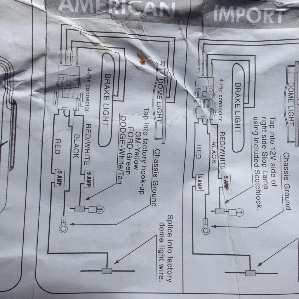 Wiring A Canopy 3Rd Brake Light/dome - Third Brake Light Wiring Diagram
