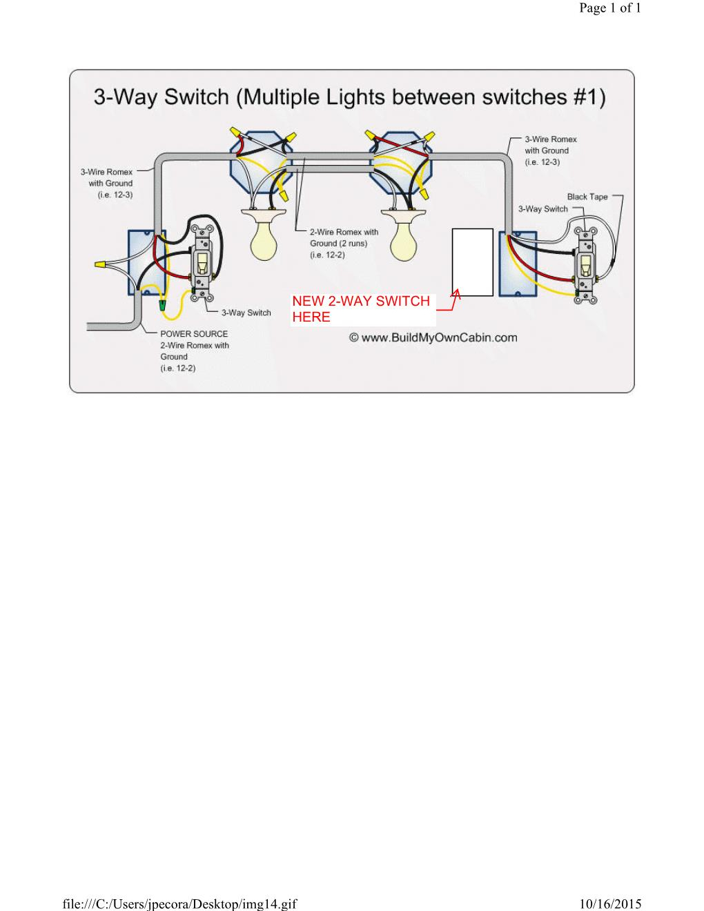 Wiring A Single Pole Switch Next To A 3-Way Switch - Home - 3 Pole Switch Wiring Diagram