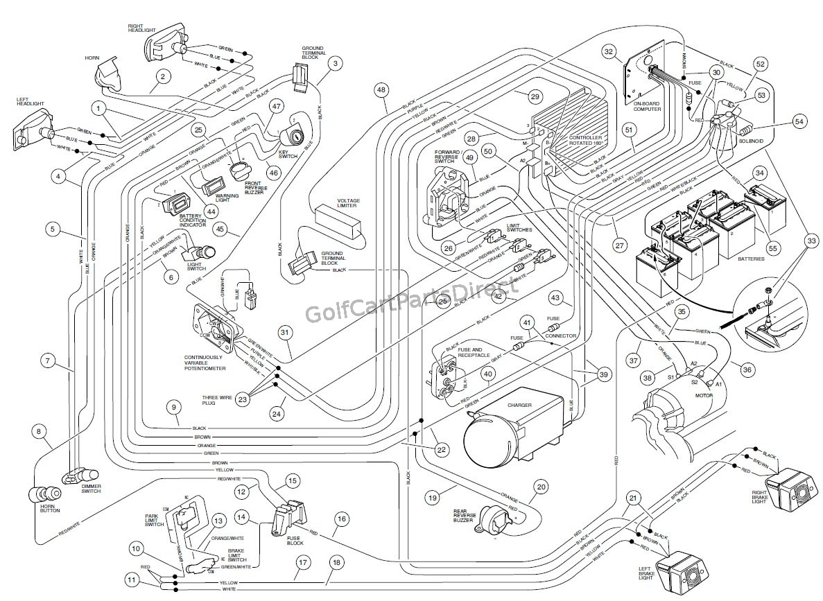 Wiring - Carryall Vi Powerdrive Electric Vehicle - Club Car Parts - Club Car Wiring Diagram Gas