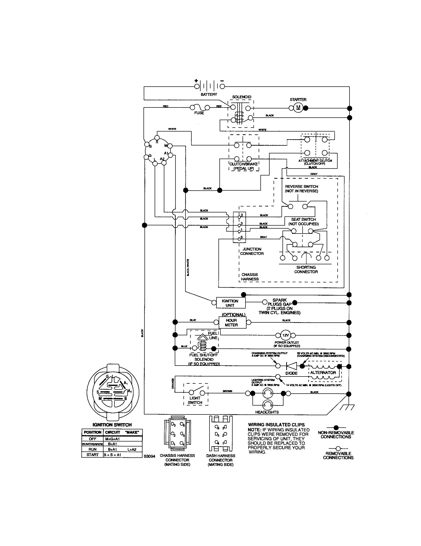 Wiring Diagram Craftsman Garden Tractor 917 273761 | Manual E-Books - Craftsman Lawn Mower Model 917 Wiring Diagram