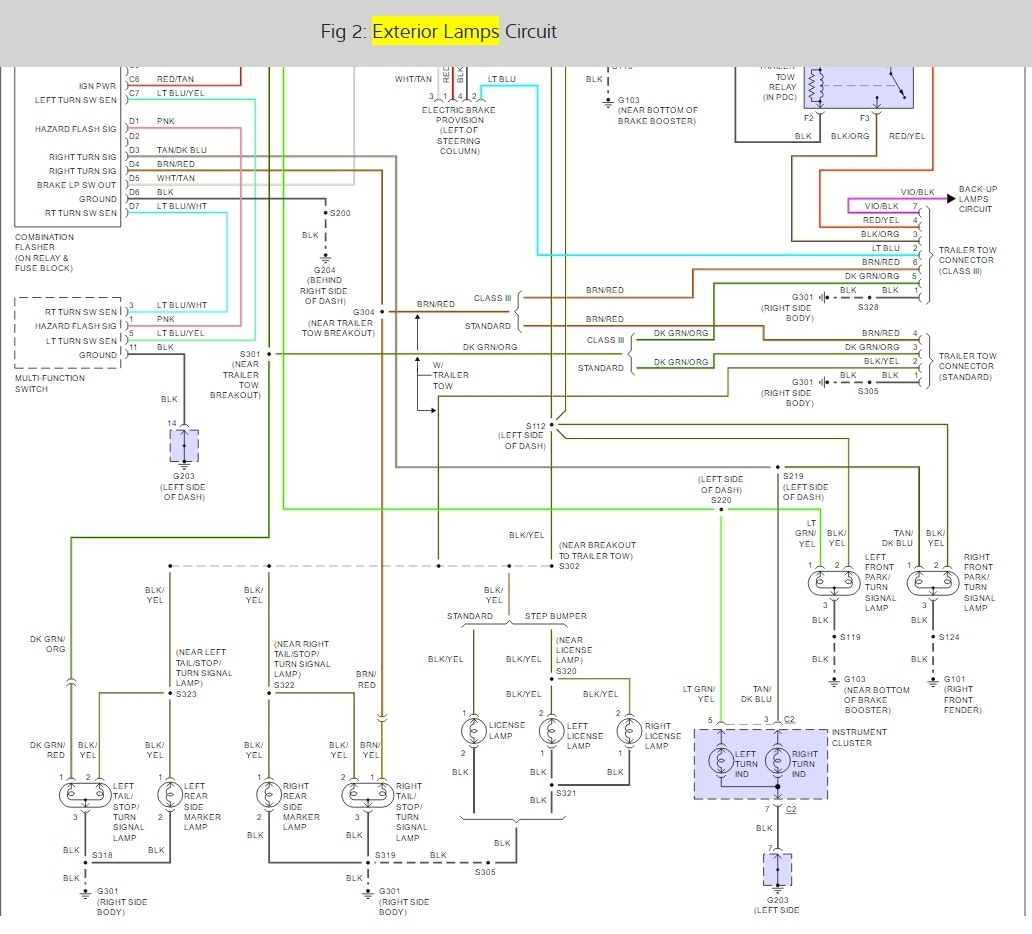 Wiring Diagram: Do You Have The Tail Light Wiring Diagram For A - Brake Light Wiring Diagram