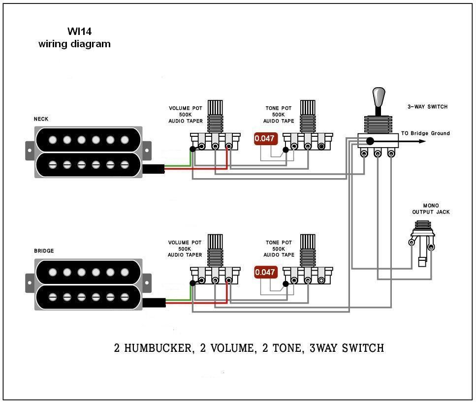 Wiring Diagram. Electric Guitar Wiring Diagrams And Schematics - Pickup Wiring Diagram