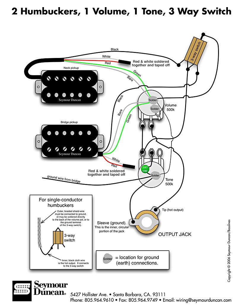 Wiring Diagram | Fender Squier Cyclone | Guitar, Guitar Pickups - Guitar Wiring Diagram 2 Humbucker 1 Volume 1 Tone