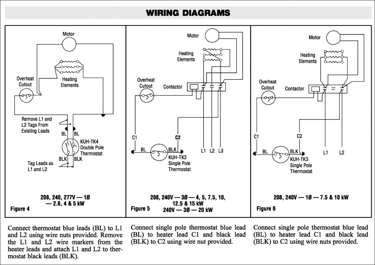 Wiring Diagram For 240V Baseboard Heater | Wiring Diagram - Single Pole Thermostat Wiring Diagram