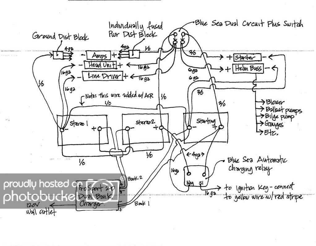 Wiring Diagram For Blue Sea Add A Battery (Switch + Acr Combo) - 2 Bank Battery Charger Wiring Diagram