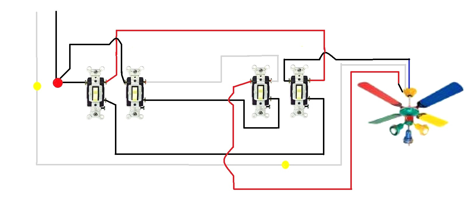 Wiring Diagram For Ceiling Fan With Wall Switch | Wiring Library - Ceiling Fan Wall Switch Wiring Diagram
