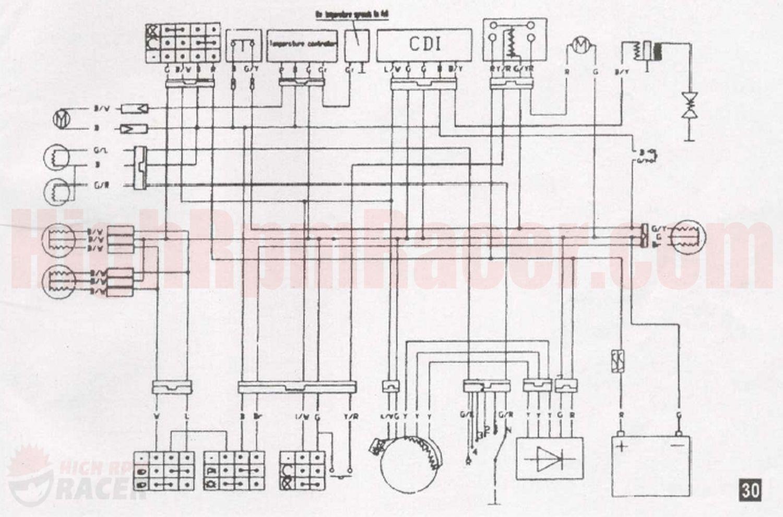 Wiring Diagram For Chinese Four Wheeler - Wiring Diagram Detailed - Chinese Atv Wiring Diagram 110