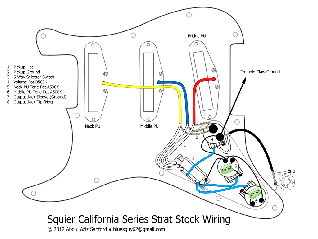 Wiring Diagram For Fender Strat - Wiring Diagram Detailed - Fender Stratocaster Wiring Diagram