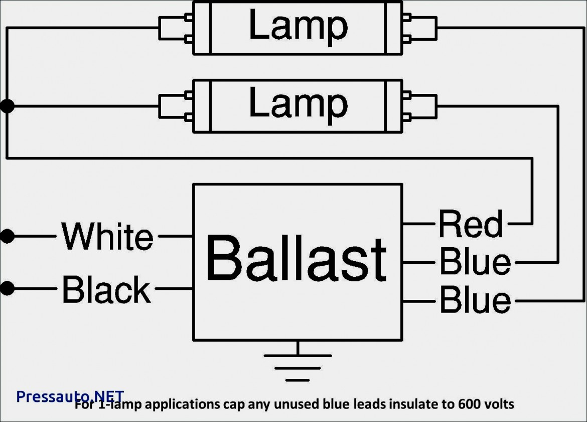 Wiring Diagram For T8 2 Lamp | Manual E-Books - 2-Lamp T8 Ballast Wiring Diagram