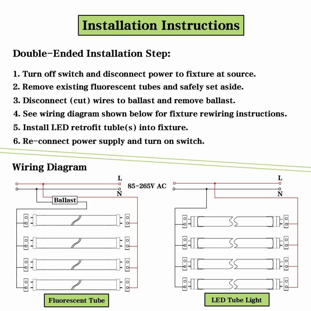 Wiring Diagram For T8 Fluorescent Lights | Best Wiring Library - Convert Fluorescent To Led Wiring Diagram