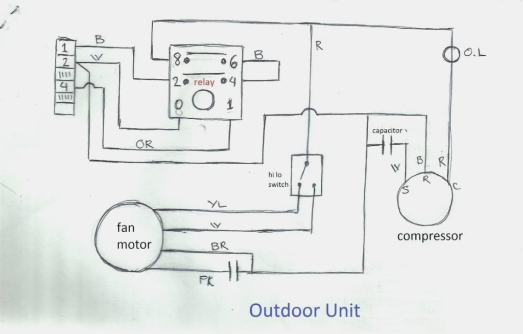 wiring diagram of split type aircon  car stereo wire
