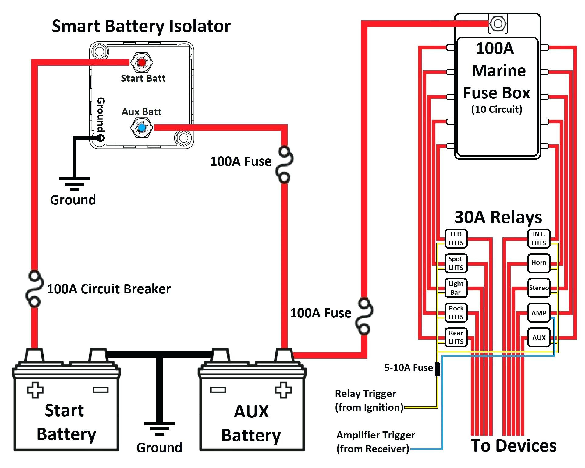Wiring Diagram Typical Battery Isolator Circuits Single - Today - Boat Battery Switch Wiring Diagram