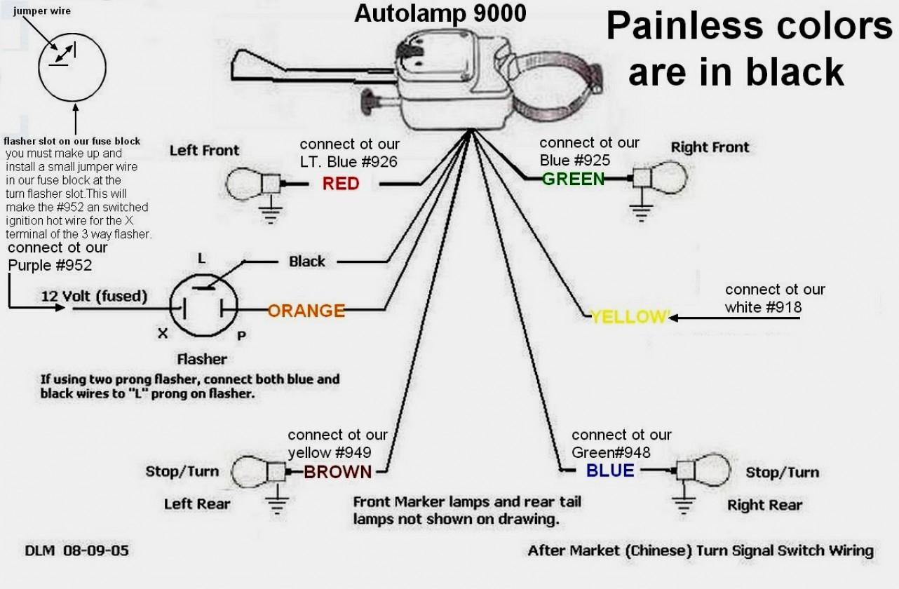Wiring Diagram Universal Turn Signal Switch | Manual E-Books - Universal Turn Signal Switch Wiring Diagram
