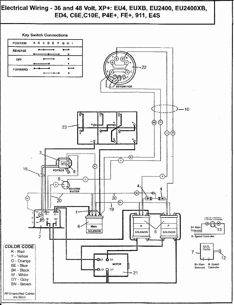 33 Club Car Golf Cart Wiring Diagram 48 Volt Manual Guide