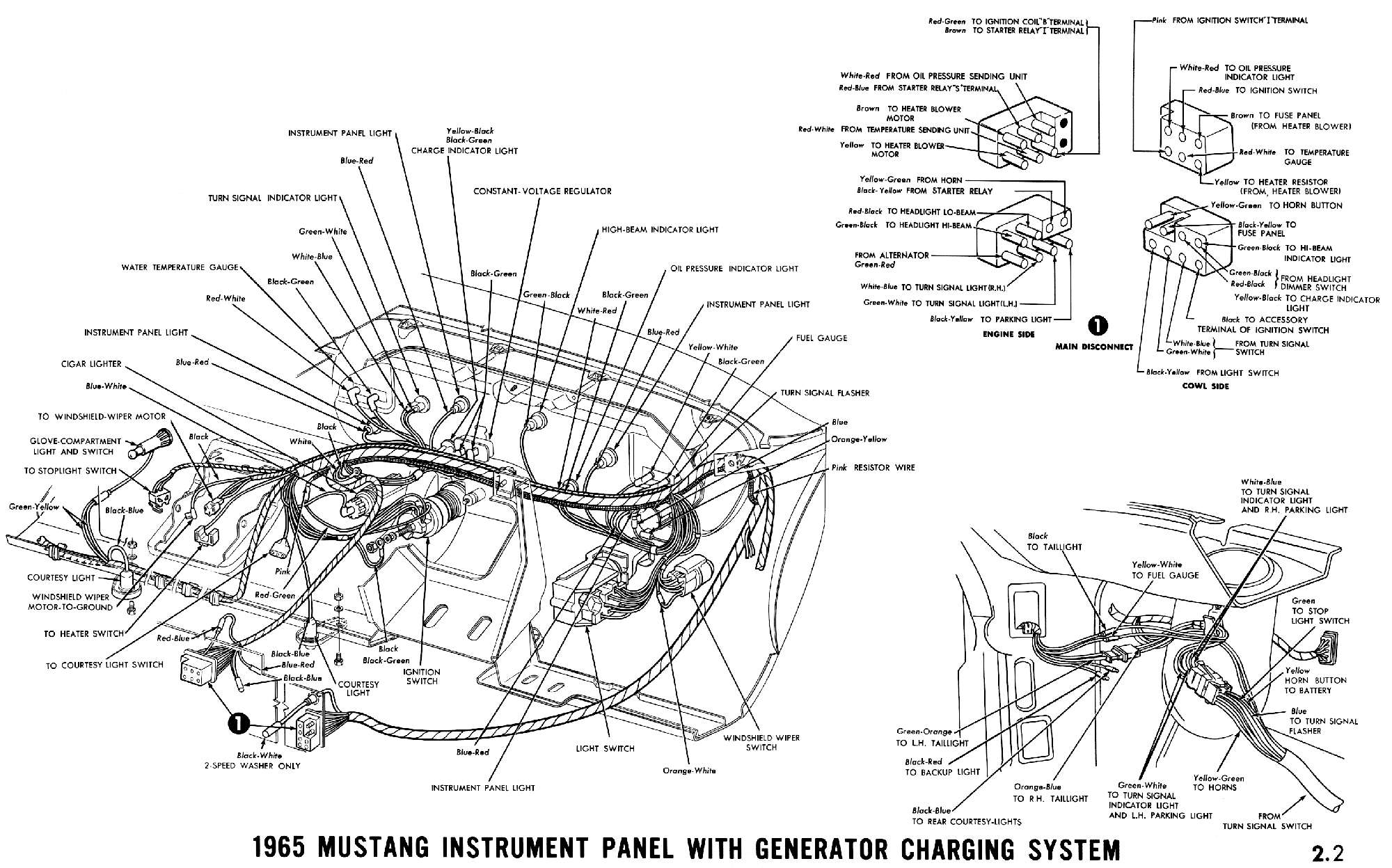 Wiring Harness For 1965 Mustang - Wiring Diagram Data - Mercury 8 Pin Wiring Harness Diagram