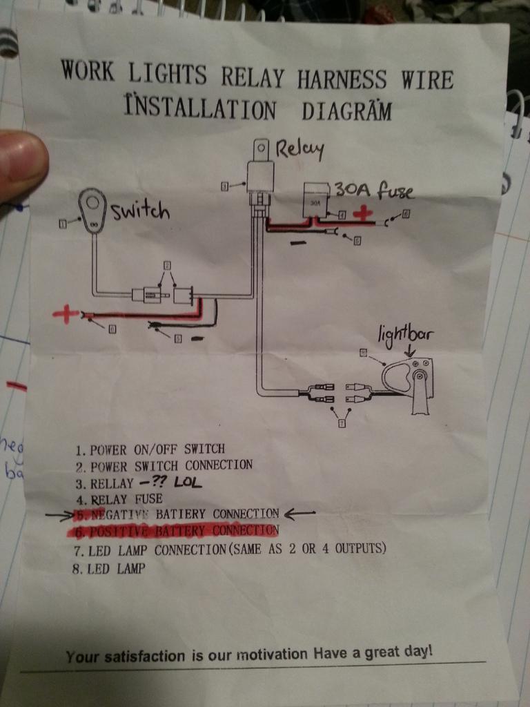 Wiring Light Bar To High Beam Switch   4X4Earth - Autofeel Light Bar Wiring Diagram