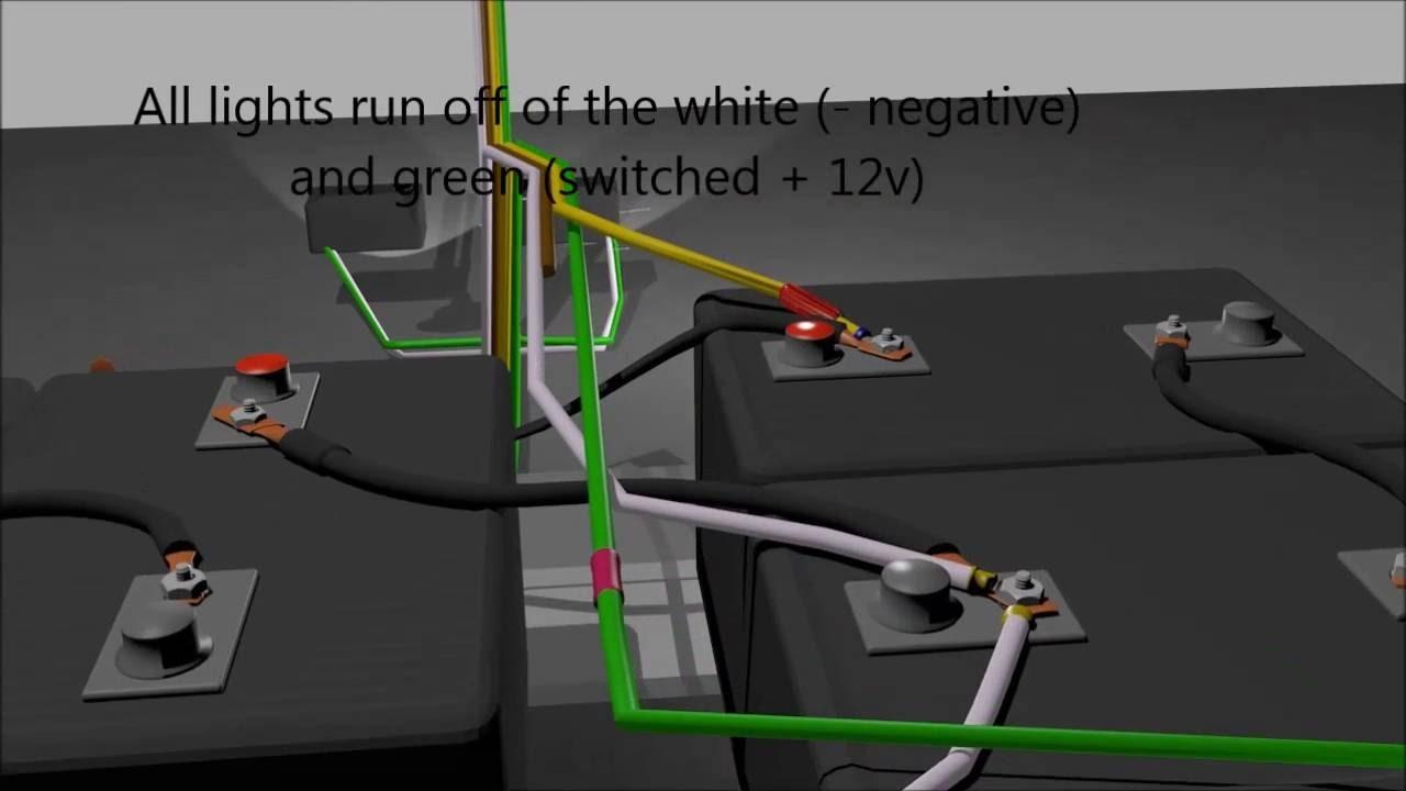 Wiring Lights On My Clubcar Golf Cart - Youtube - 48 Volt Club Car Wiring Diagram