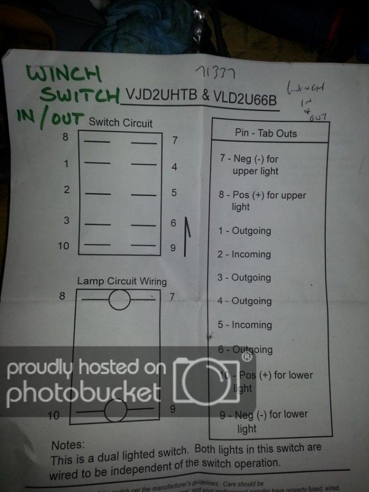 Winch Rocker Switch Wiring Diagram
