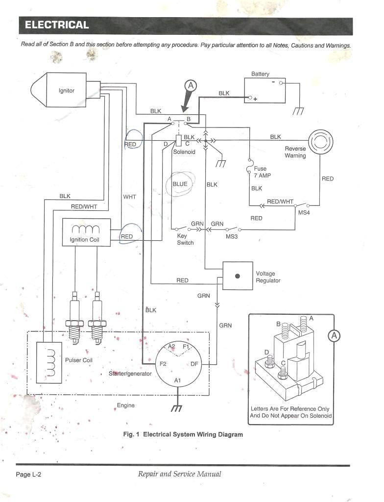 With A Golf Cart Gas Engine Ignition Wiring Diagram | Wiring Diagram - Ezgo Golf Cart Wiring Diagram