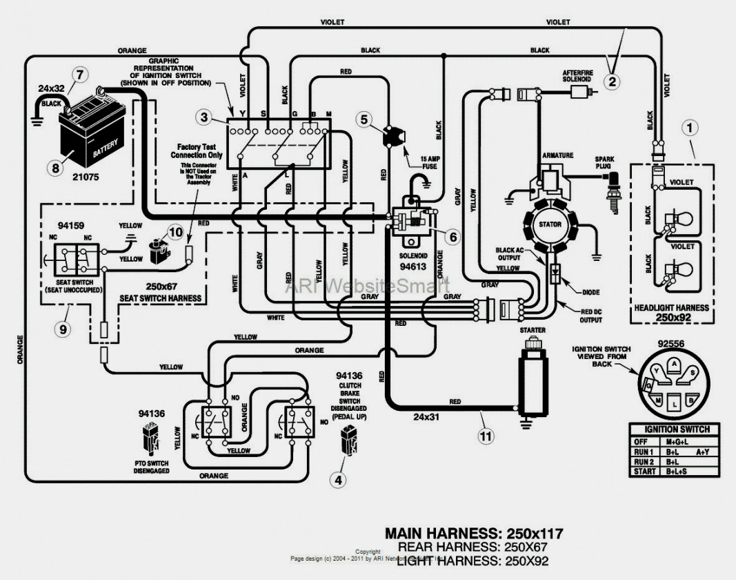 Wonderful Wiring Diagram For Huskee Lawn Tractor Troy Bilt Riding - Mtd Riding Lawn Mower Wiring Diagram