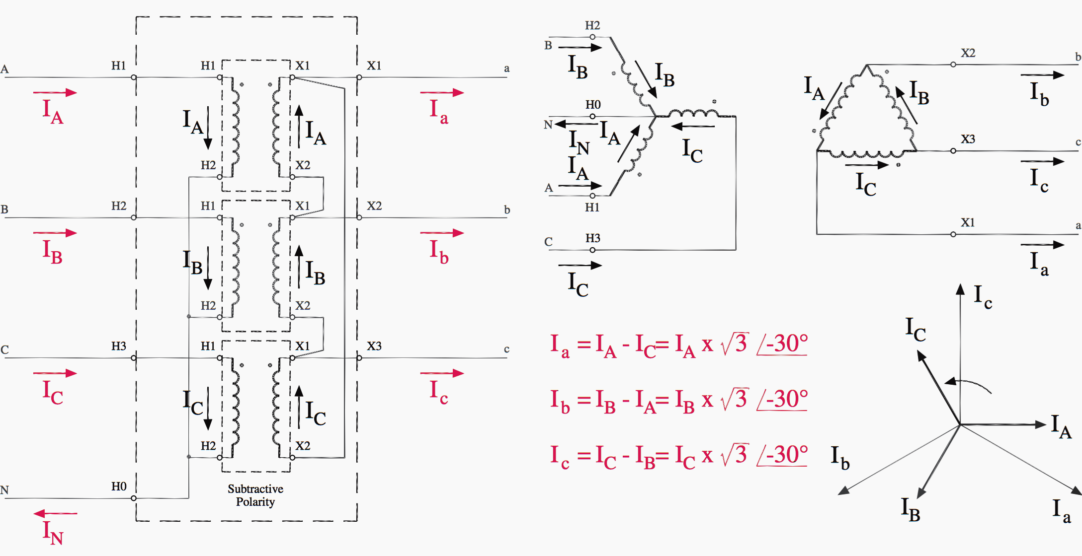 Wye Transformer Connection Diagrams On Delta Transformer Schematic - 3 Phase Transformer Wiring Diagram