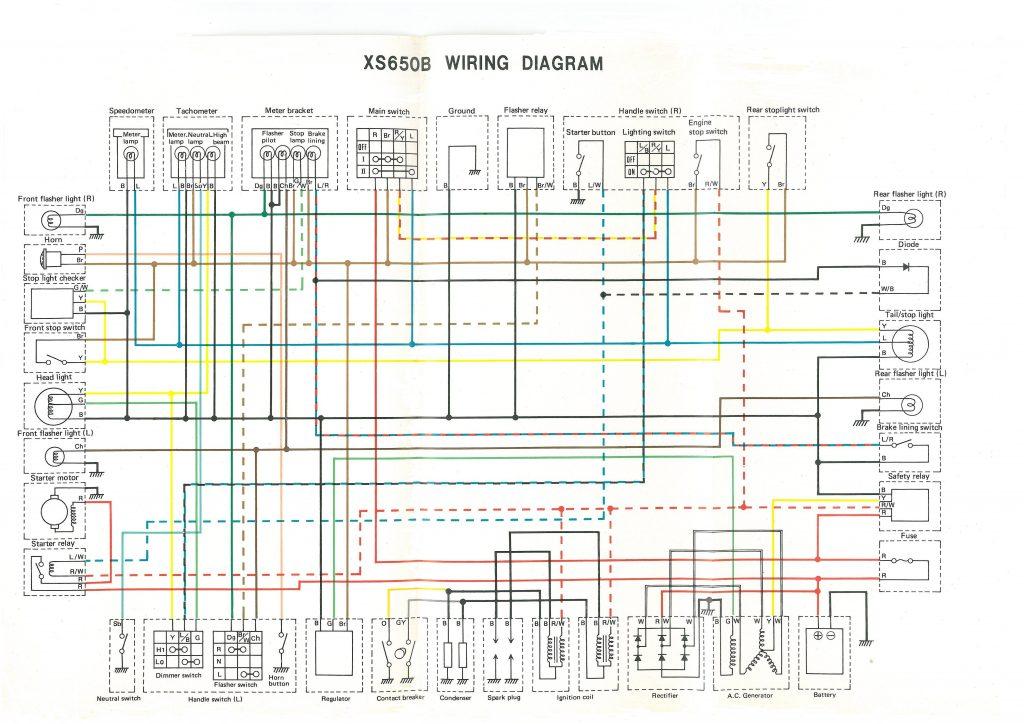 Xs650  75 Xs-b 76 Xs-c Wiring Diagram